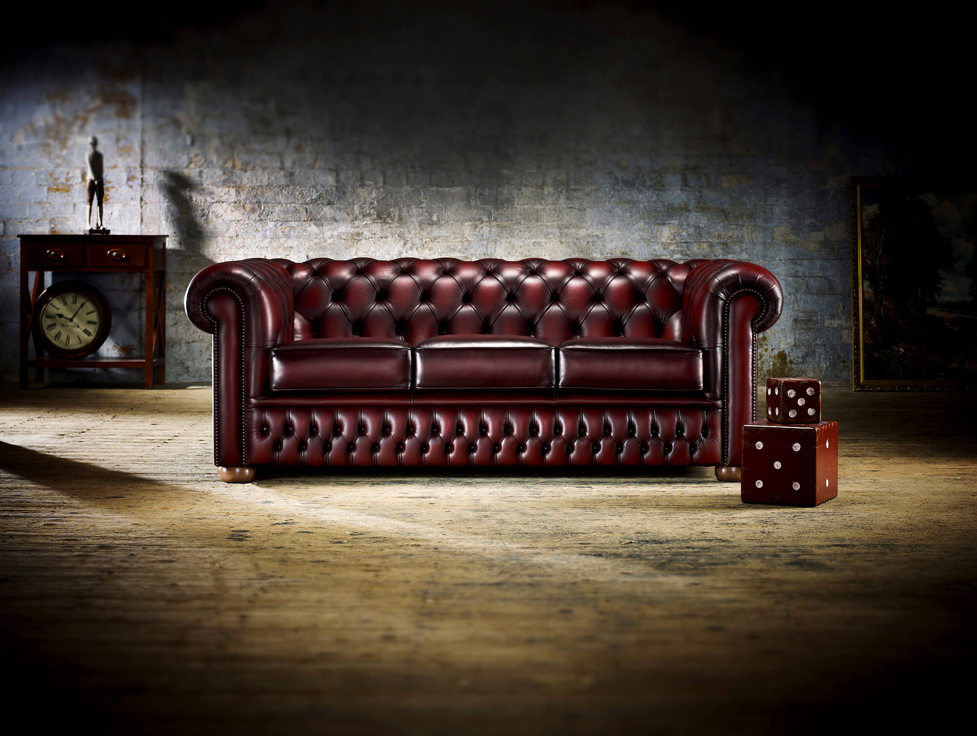 A Chesterfield Sofa Has A Very Distinctive Style That Makes It Stand Out In  Any Living Room. With Rolled Arms, Finely Tacked Studs, And Deep Set  Buttoning, ...