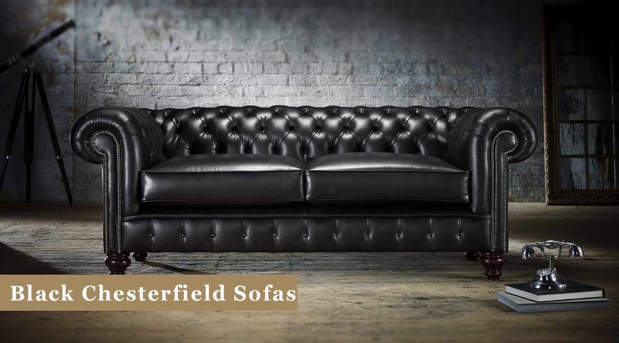 Black Chesterfield Sofas Leather Amp Fabric Timeless