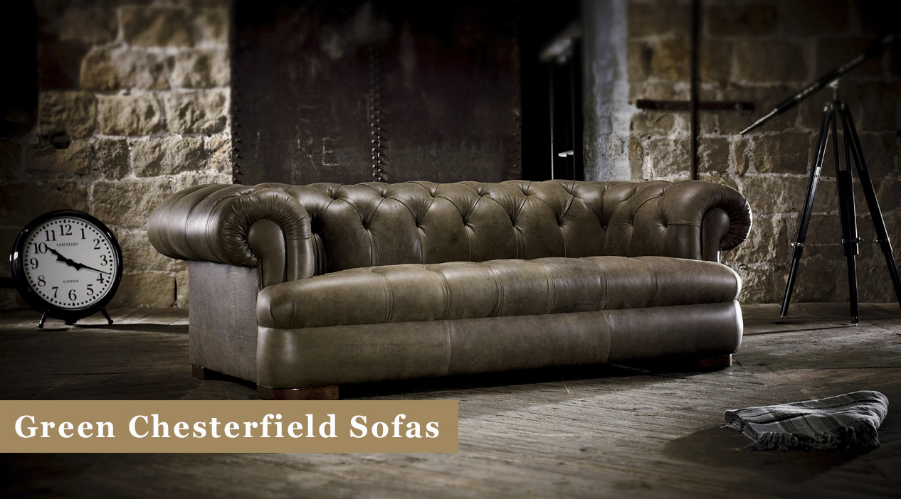 Green Chesterfield Sofas Leather Fabric Timeless Chesterfields