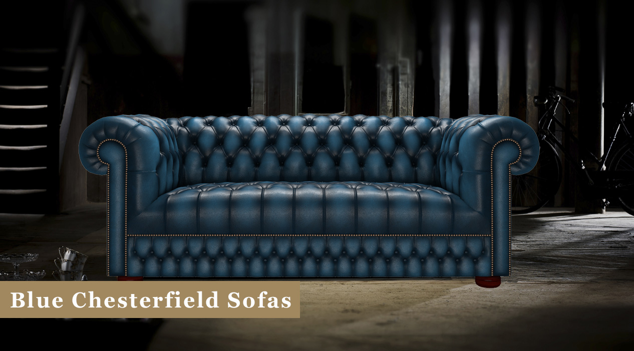 Blue Chesterfield Sofas: Leather & Fabric | Timeless ...