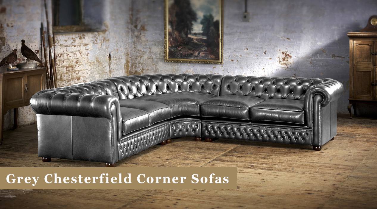 Grey Chesterfield Corner Sofas Timeless Chesterfields