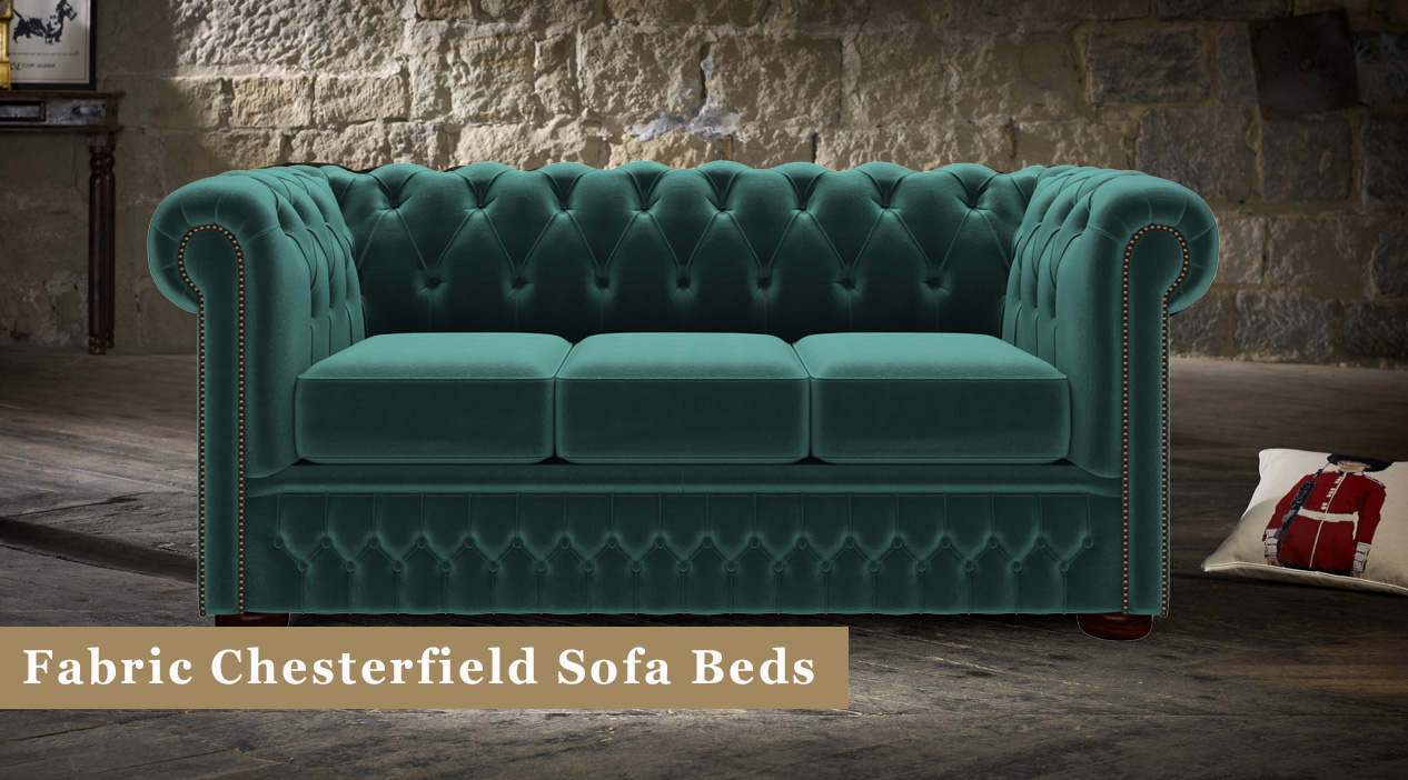 purchase cheap 7c9a7 8826b Fabric Chesterfield Sofa Beds | Timeless Chesterfields