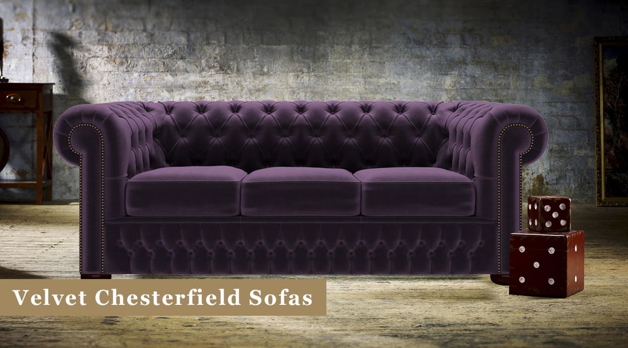Velvet Chesterfield Sofas Timeless