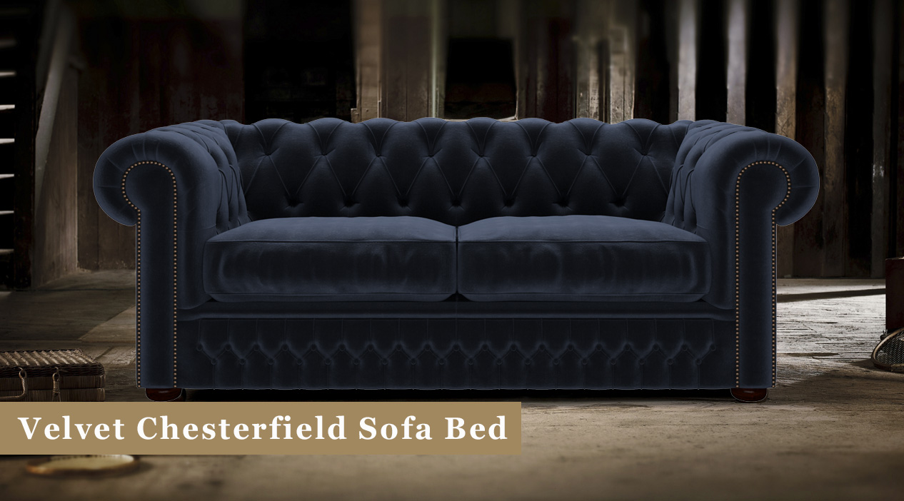 Velvet Chesterfield Sofa Beds Timeless Chesterfields