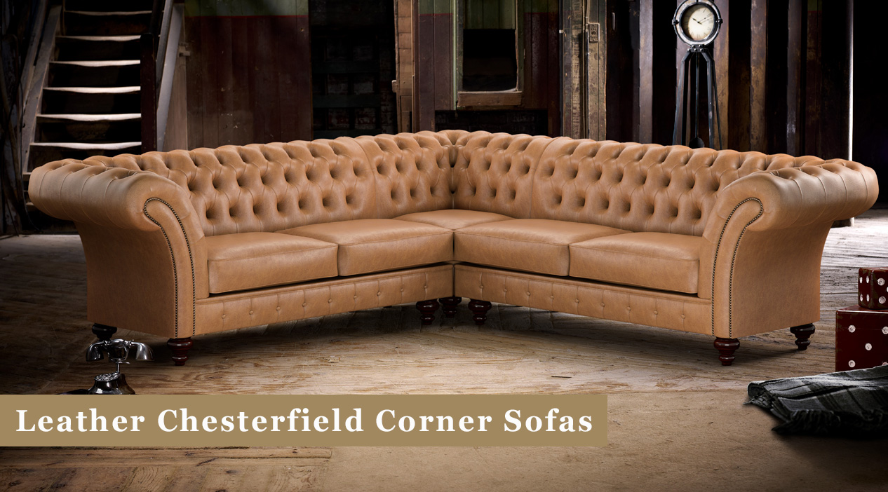 Leather Chesterfield Corner Sofas – Made In Britain | Timeless Chesterfields