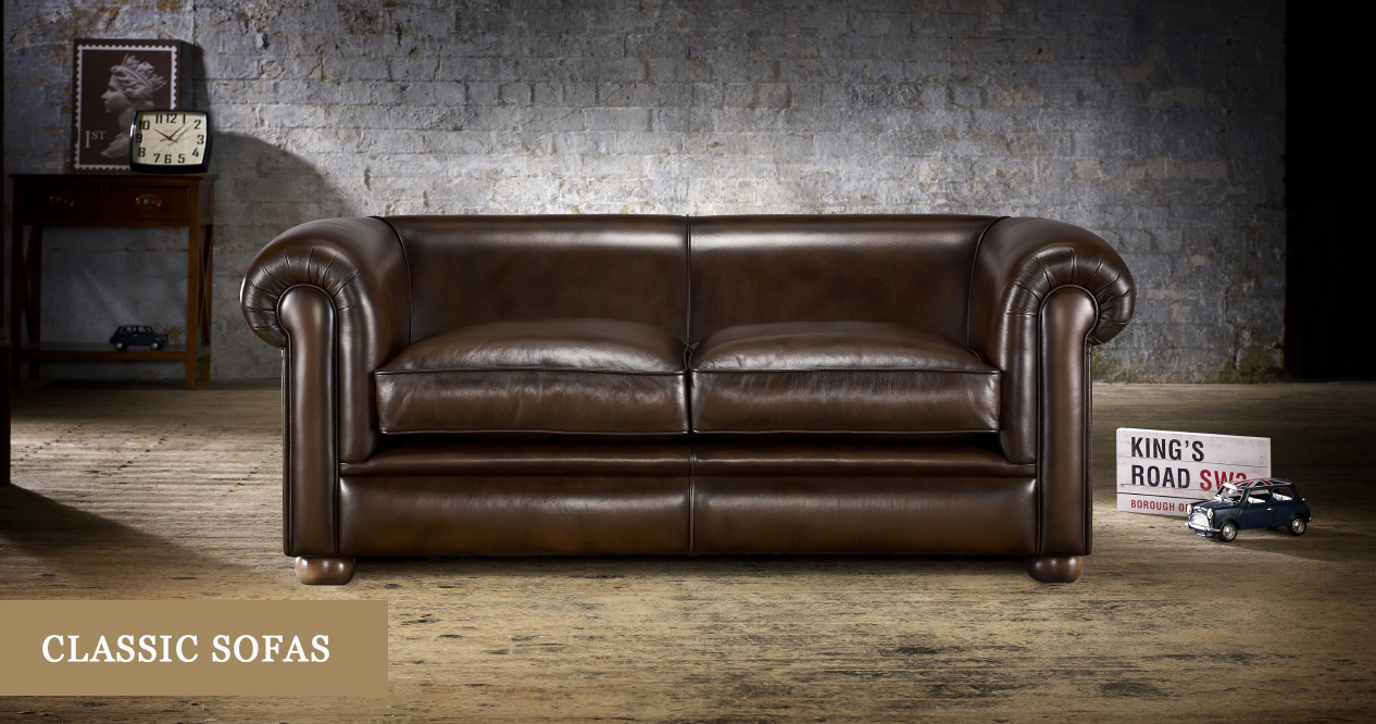 Classic Sofas & Couches: Leather & Fabric | Timeless Chesterfields