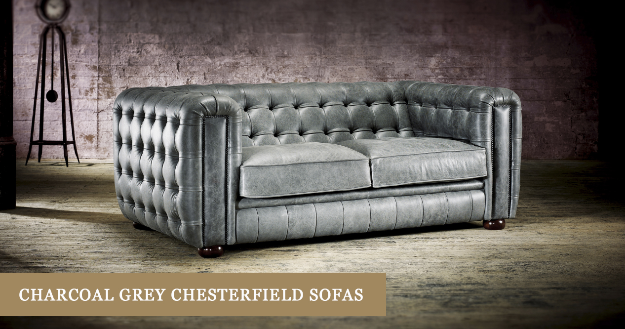 Charcoal Grey Chesterfield Sofas