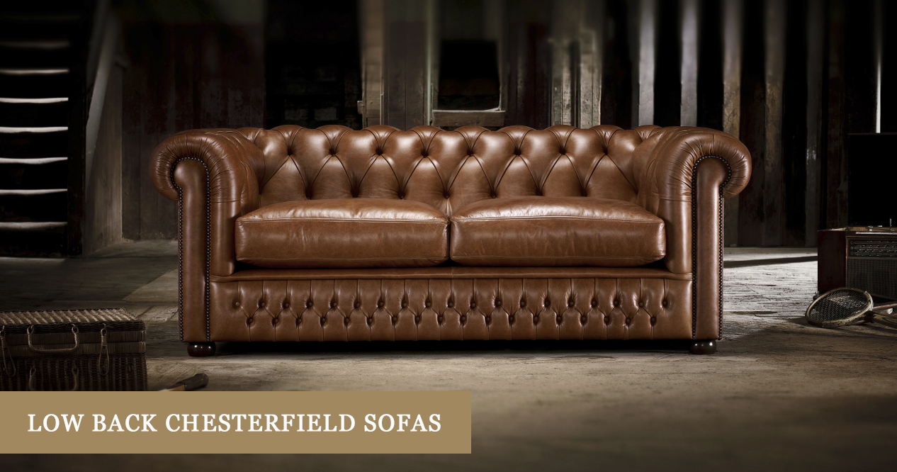 Low Back Chesterfield Sofas Made In The Uk Timeless Chesterfields