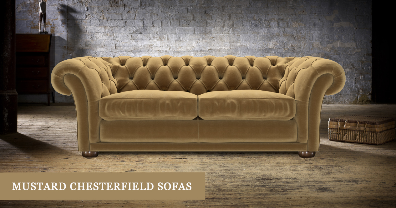 Mustard Chesterfield Sofas Made In The Uk Timeless