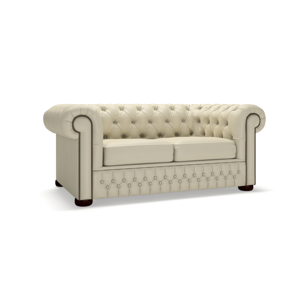 Classic chesterfield two seater sofa bed timeless for Sofa bed 2 seater