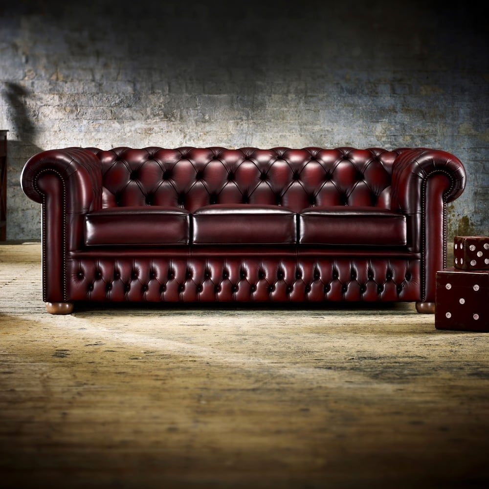 A 3 Seater Chesterfield Sofa At