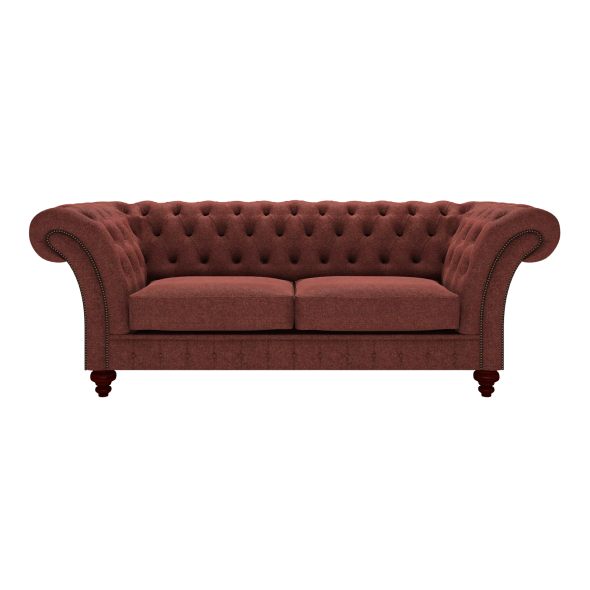 Grosvenor 3 Seater Sofa In Wool   Herringbone Paprika Zoom