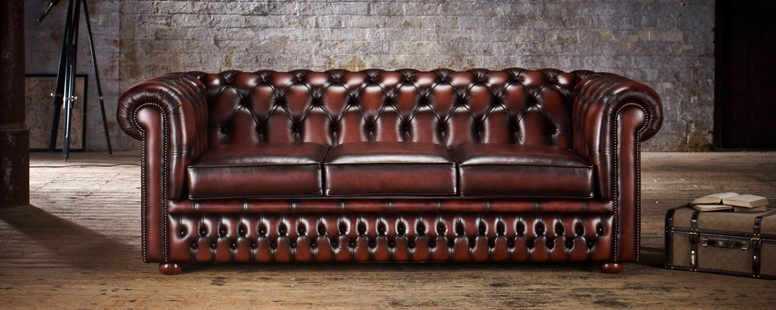 Classic Chesterfield Two Seater Sofa Bed Timeless Chesterfields ~ Chesterfield Brown Sofa